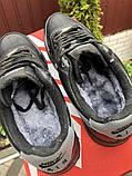 🔥 Ботинки кроссовки мужские зимние Nike Air Force черные кожаные кожа теплые на меху шерстяные меховые, фото 5