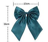 Женский галстук бабочка черного цвета, фото 3