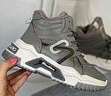 Сірі зимові черевики, кросівки маленькі розміри, фото 3
