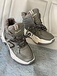 Сірі зимові черевики, кросівки маленькі розміри, фото 7