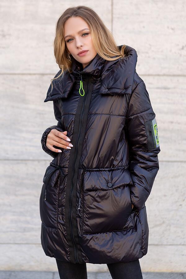 Трендовая удлиненная женская куртка оверсайз на силиконе, большого размера от 46 до 52