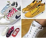 Шнурки без завязок для обуви белые, фото 2