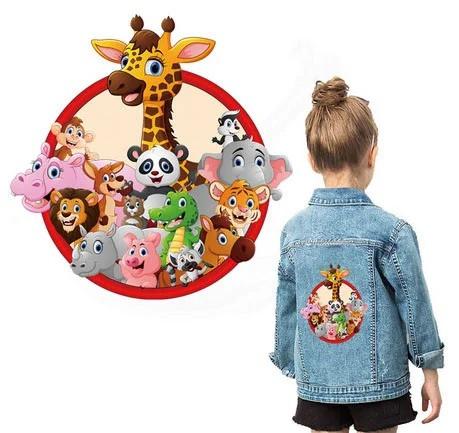 Термонаклейка на одежду детская Зверюшки