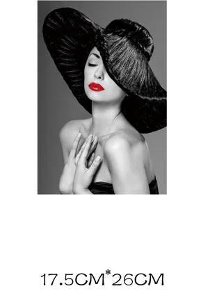 Термонаклейка декор для одежды Девушка в шляпе