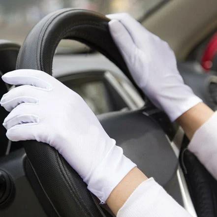 Женские перчатки автомобильные белые