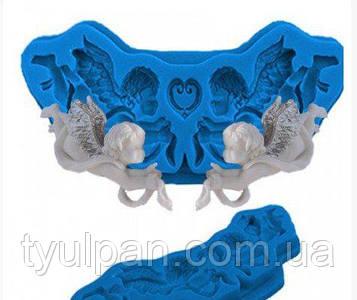 Молд силиконовый для пластики мастики  ангелочек № 2