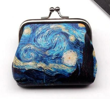 Маленький кошелек монетница картина Ван Гог Звездная Ночь