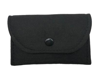 Черный кошелек монетница на кнопке