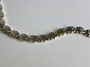 Серебряный браслет Слоники