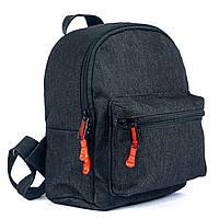Детский модный джинсовый рюкзак черный 5л