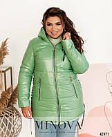 Куртка женская батальная короткая зима легкая 54 56 58 60 62 64