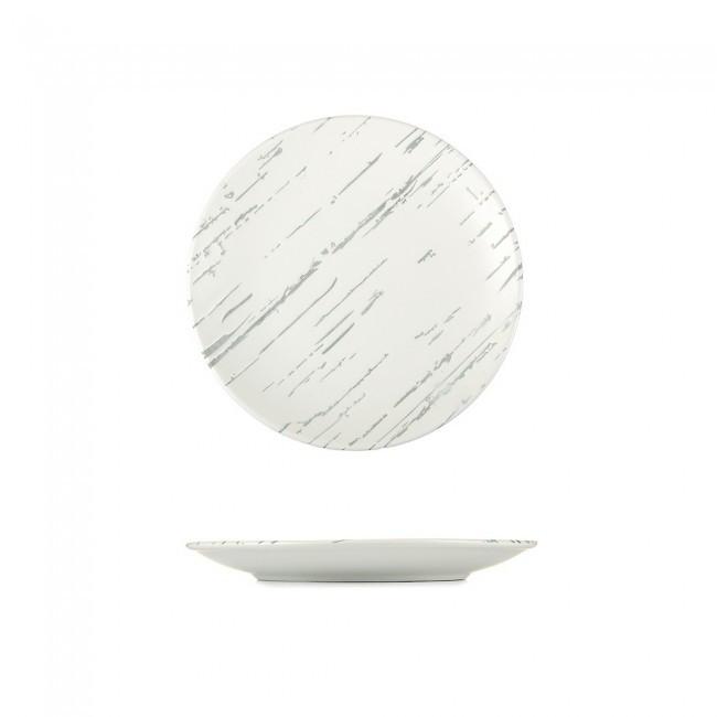 """Тарелка круглая персональная """"Светлый камень"""" 185 мм HLS (G1601)"""