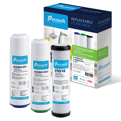 Комплект картриджей Ecosoft Улучшенный CRV3ECO для тройных фильтров + Подарок