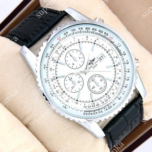 Стильные наручные часы Breitling Silver/White 1002-0008 для мужчин