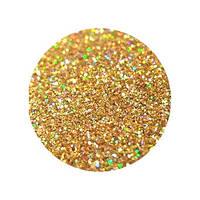 Сухие блестки 50 гр. 0,2 мм золото голографическое