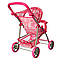 Розовая коляска игрушечная прогулочная для кукол Melogo 9304, игрушки для девочек 4 лет, фото 6
