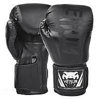 Перчатки боксерские PU на липучке VENUM BO-5698-BK (реплика) 12