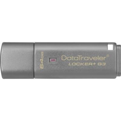 USB флеш накопитель Kingston 64Gb DataTraveler Locker+ G3 USB 3.0 (DTLPG3/64GB)