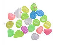 Люминесцентные камни для ландшафтного дизайна сада аквариума 100 шт. Мультицвет