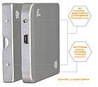 """Зовнішній кишеню Frime SATA HDD/SSD 2.5"""", USB 2.0, Metal Silver (FHE61.25U20), фото 3"""