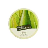 Крем для снятия макияжа алое The Face Shop Herb Day Cleansing Cream Aloe, 150 мл