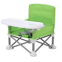 Детский складной стул для кормления Baby seat Pro, тканевый стул с алюминиевыми ножками SKL11-276398