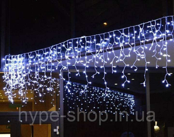 Гирлянда бахрома белый 3*0,70 м, 120 LED, с переходником