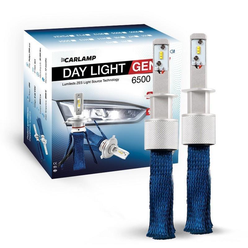 Світлодіодні автолампи H1 CARLAMP Day Light GEN2 Led для авто 6000K 6500Lm ZES (DLGH1)