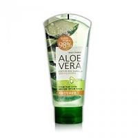 Гель алое 98% чистого органического сока алое WELCOS Aloe Vera Moisture Aqua Soothing Gel