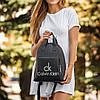 Женский черный кожаный рюкзак (Эко кожа) СК. Стильный, небольшой, удобный, повседневный рюкзачок, фото 4