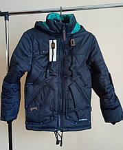 Демисезонная  куртка парка  для  мальчика на 140-146 рост