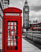Картина по номерам Чарівний діамант Черно-белый Лондон РКДИ-0013 40х50см набір для розпису по цифрах, розмальовка набір для розпису, фарби та пензлі