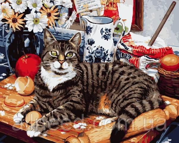 "Картина за номерами Brushme. ""Кіт-кулінар"" GX4141"