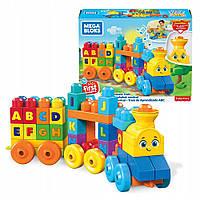 Детский Игровой Развивающий Конструктор Музыкальный паровозик со звуковыми эффектами и буквами - Mega Bloks