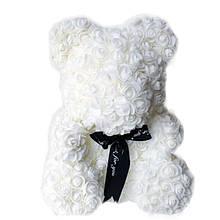 Мишка из искусственных 3D роз в упаковке 25 см SKL11-140100