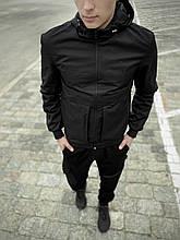 Мужская весенняя куртка, ветровка черная Sprinter SKL59-259552
