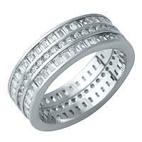 Серебряное кольцо DreamJewelry с фианитами (1929483) 18 размер, фото 1