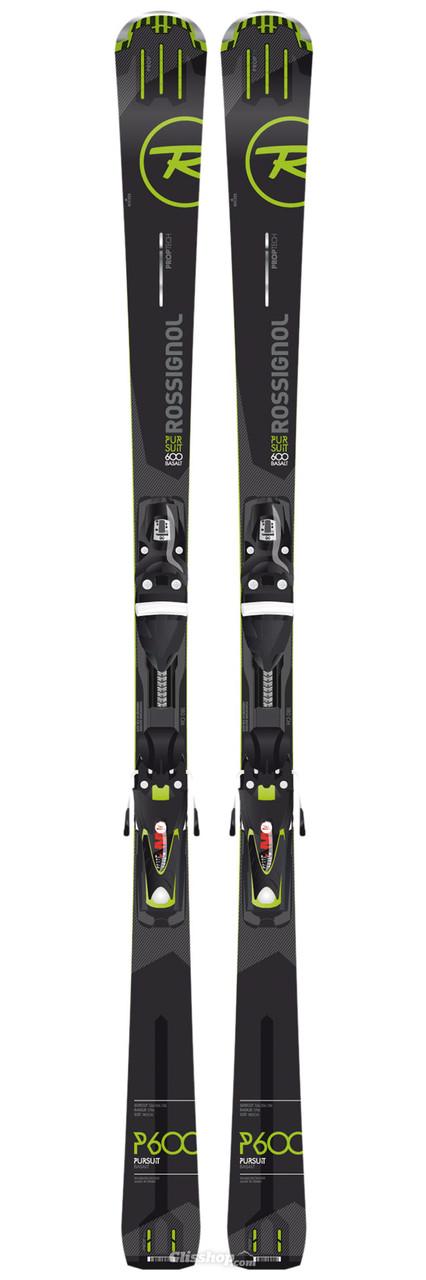 Горные лыжи Rossignol PURSUIT 600 BASALT TPX + AXM110 TPI B83 BLK/green P600 (MD)