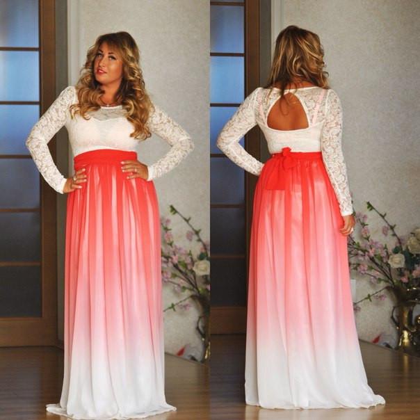Платье гипюровый верх и атласный низ