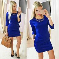 Платье женское Нинель синее , женская одежда