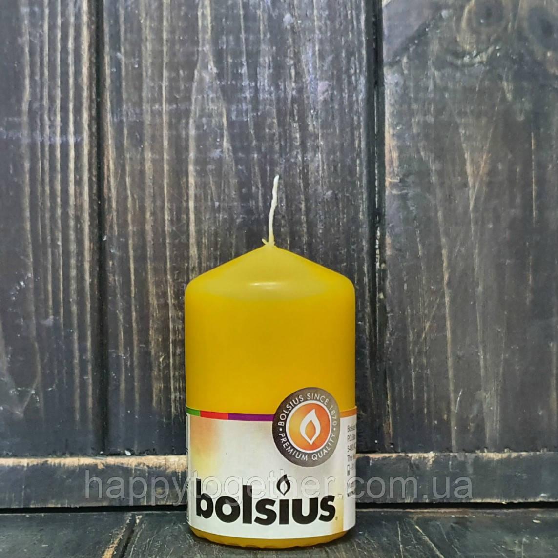 Свеча цилиндр 5х8 см желтая