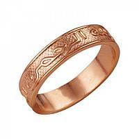 Тонкое кольцо позолота Спаси и Сохрани 16.5 размер