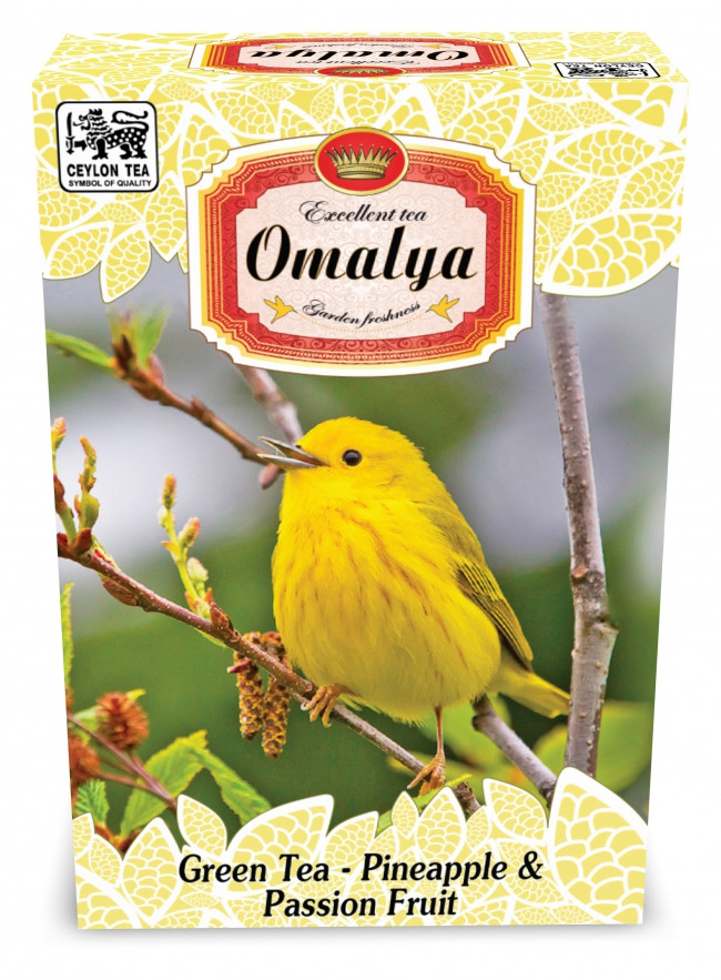 "Чай зеленый Омалия ""Желтая птица"" Ананас и Маракуя 100г."