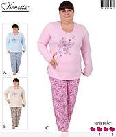 Пижама женская теплая штаны и кофта с длинным рукавом.