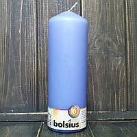 Свеча цилиндр 7х20 см голубой