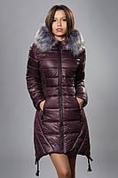Зимняя женская молодежная куртка. Код К-62-12-16. Цвет шоколадный.