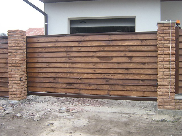 Ворота деревянные под заказ