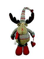 Мягкая игрушка Олень новогодний 41см