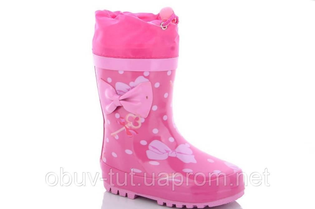 Рожеві гумові чоботи з утеплювачем, розміри 21,22,23,24,25,26,27,28,29