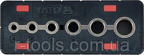 Шаблон для сверления отверстий 4-12 мм YATO YT-39700